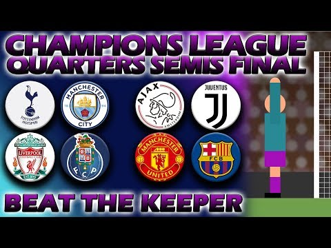 Beat The Keeper - UEFA Champions League 2018/19 Quarters Semis & Final