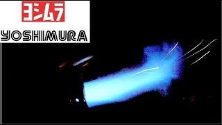 10. 2014 DS450X MX Yoshimura exhaust flames (HD)