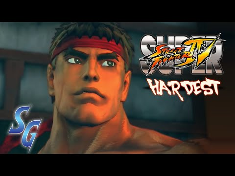 Super Street Fighter 4 - ARCADE MODE - HARDEST - RYU NO MISS w/ FLASHY FINISHES!