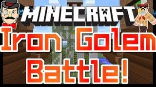 Minecraft Clay Soldiers - IRON GOLEM Battle ! Clay Soldiers Village Arena Bet Match #95!