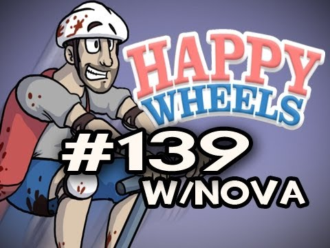 Happy Wheels w/Nova Ep.139 - Haunted Mansion 2 with ManPenis Video