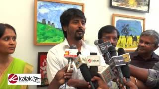 Sivakarthikeyan Inaugurates RIOTS Art Gallery Kollywood News 28/11/2015 Tamil Cinema Online