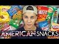 AUSTRALIAN TRIES AMERICAN SNACKS! | Joel Eats Junk