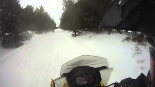 1. Ski Doo 900 Ace against a 600 E-Tec