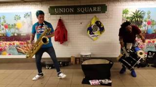 NEW ! Too Many Zooz , Union Square  The newest Show! 2017 The Coolest saxophone player ever!!