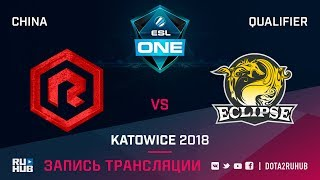 Rock Young vs Eclipse, ESL One Katowice CN, game 1 [Autodesctruction]