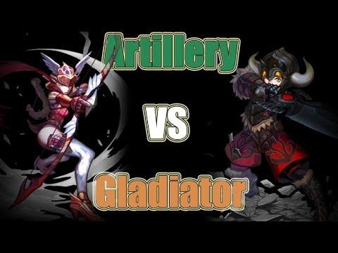 [Dragon Nest] Artillery vs  Gladiator T4 PvP