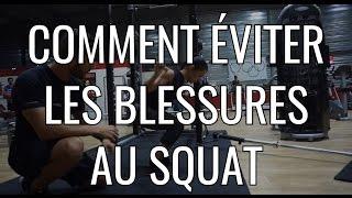 Comment éviter les blessures au squat