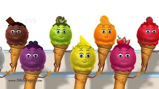 Ice Cream Song for kids and  Learn colors with Ice Cream for Children, Babies and Toddlers.