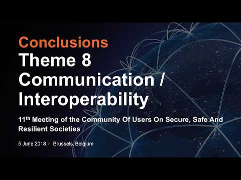 11th CoU - Conclusions - Theme 8: Communication / Interoperability