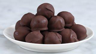 Dark Chocolate Peanut Butter Balls by Tasty