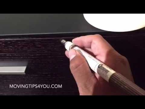 How to fix a scratch on furniture