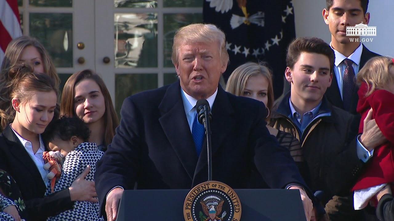 USAs President Donald Trump taler til «Marsj for livet 2018», 19. januar 2018