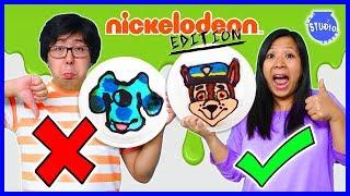 PANCAKE ART CHALLENGE NICKELODEON EDITION ! Learn how to do DIY Pancake Art!