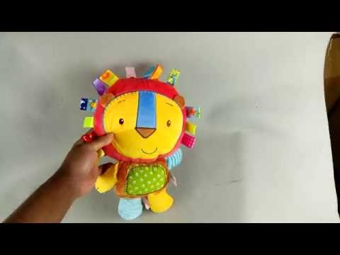 Taggy Colorful Lion Rattle Plush Toy