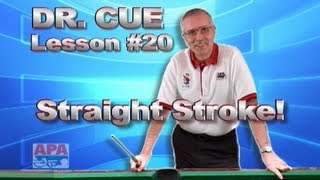 APA Dr. Cue Instruction - Dr. Cue Pool Lesson 20: Stroke Practice With Barrier Training!