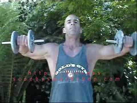 bodybuilding exercise: dumbbell side raise for shoulders