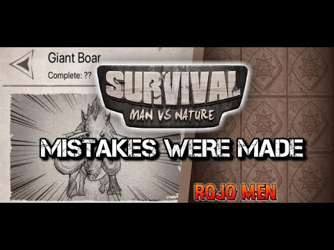 SURVIVAL: MAN VS NATURE/WILD | MISTAKES WERE MADE | EP.4 FULL GAMEPLAY (iOS MOBILE)