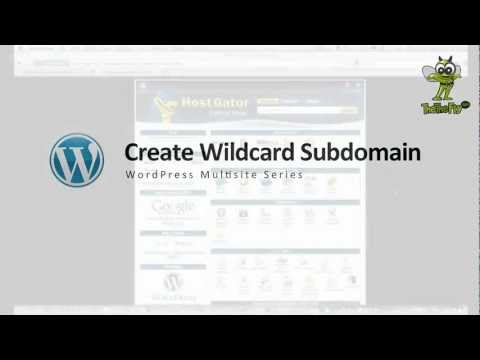 Create a Wildcard Sub-domain for WordPress Multisite (WP MU)