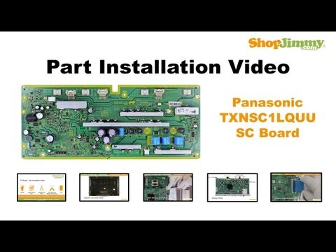 Panasonic TC-P50 TX-P50 TXNSC1LQUU SC Boards Replacement Guide for Panasonic Plasma TV Repair