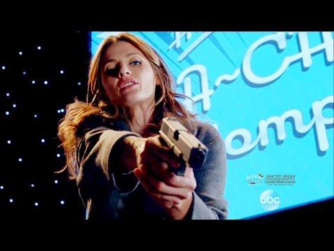 "Castle 8x09  Beckett Tackles Suspect & Interrogation Room Scene ""Tone Death"" Season 8 Episode 9"