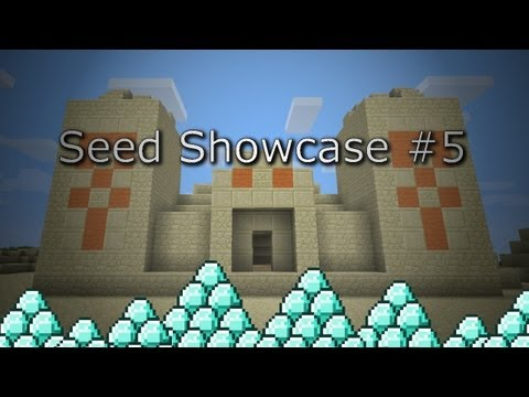 (1.4.7) Minecraft: INSANE SEED! Desert Temple with Diamonds Spawn + Double Ravine w/More Diamonds