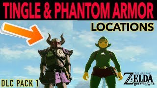 This video will show you How to Find Tingle's Outfit and Phantom Armor in Zelda Breath of the Wild Expansion Pass DLC Pack 1. Nintendo just released this Expansion Pass just this past June. You will see the locations on how to find the complete armor sets for the Phantom Armor as well as the complete Tingle Outfit. Here is a list of the items we will find by name:* Tingle's Hood -   NIGHT SPEED UP* Tingle's Shirt -     NIGHT SPEED UP* Tingle's Tights -  NIGHT SPEED UP* Phantom Helmet - ATTACK UP* Phantom Armor -   ATTACK UP* Phantom Greaves- ATTACK UPCheck out some of my other cool videos here!HOW TO FIND ANYTHING IN BREATH OF THE WILD:https://www.youtube.com/playlist?list=PLTeo8k1SzTr16dLY162pK9Yd0FTzpv4-GHOW TO MAKE TOMS OF RUPEES IN BREATH OF THE WILD:https://www.youtube.com/playlist?list=PLTeo8k1SzTr2LpjJgHTRfkWNpWu4FbqwhCheers!