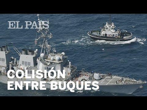 Siete muertos por el choque entre el buque militar USS Fitzgerald y el barco mercante filipino  ...