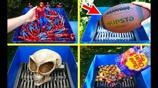 AMAZING SHREDDING COMPILATION! SHREDDING SPIDERMAN, CHUPA CHUPS, SKULL, FOOTBALL AND OTHERS