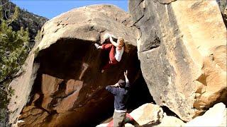 Mina Leslie-Wujastyk climbs Gentleman's Project (V11) Joe's Valley, Utah by teamBMC