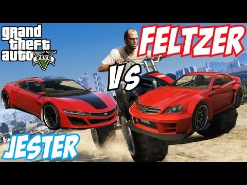 jester - GTA 5 Online car comparison video today, showcasing you Dinka Jester Vs Benefactor Feltzer available from the New GTA 5
