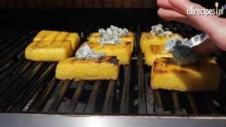 Grillowana polenta z błękitnym serem - przepis