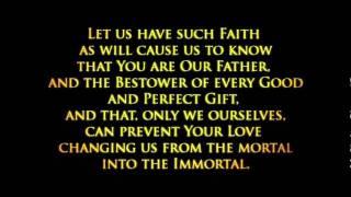 The Prayer for Divine Love