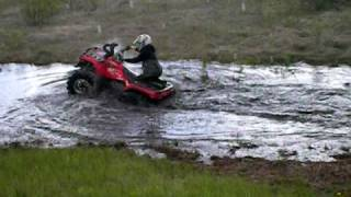 7. Can-am Outlander 400 mudding