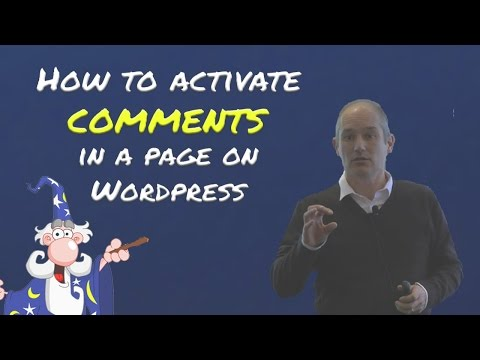How to activate comments on a post in WordPress