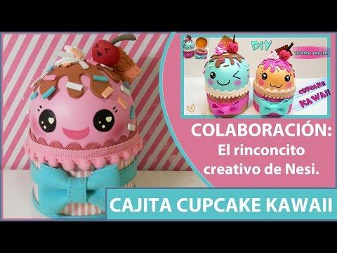 cajitas en forma de cupcake kawaii goma eva o foamy