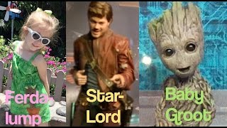 Lane visited Disney's Hollywood Studios to meet Baby Groot and Star-Lord from Marvel's Guardians of the Galaxy Vol. 2.