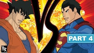 GIVE ME A SHOUT ON TWITTER: https://www.twitter.com/HakimaStudiosIt's finally here! Goku Vs Superman Part 4, part of my Heroes Brawl Series. Watch Goku take on his ultimate rival Superman in this epic duel to the finish!Website: http://www.hakimastudios.comFacebook: https://www.facebook.com/hakimastudios/Instagram: @HakimaStudiosPatreon: https://www.patreon.com/HakimaStudios
