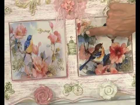 tutorial - decoupage scatola con tecnica acquaforte
