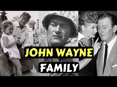Actor John Wayne Family Photos With Son, Wife and Kids