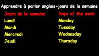 Apprendreà Parler Anglais-jours De La Semaine
