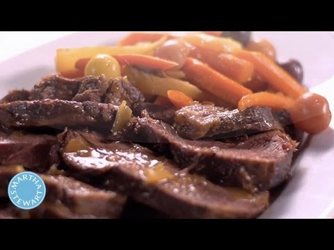 Braised Pot Roast and Veggies from Martha Stuart