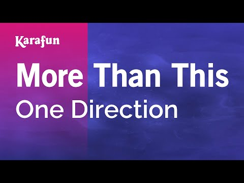 Karaoke More Than This - One Direction *