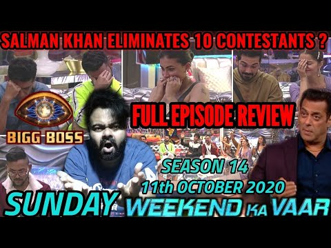 Bigg Boss Season 14 | Episode 8 | 11 October 2020 | Review | Weekend Ka Vaar | SALMAN KHAN |EVICTION