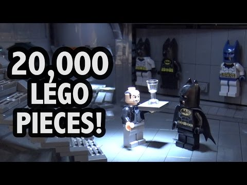 Epic LEGO Batcave With Lights And Batmobiles