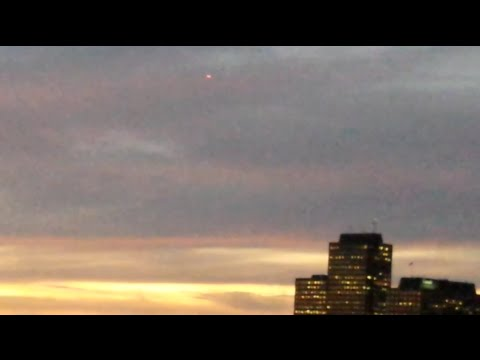 ufo sighting with red and green lights above sky canada