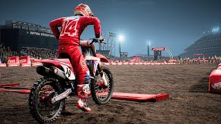 Monster Energy Supercross - Honda CRF 450 - Test Ride Gameplay (PC HD) [1080p60FPS]