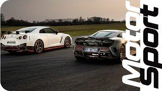 Drag Race : Nissan GT-R Nismo VS McLaren 675LT by Motorsport Magazine