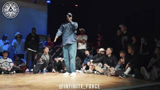 Mr. Steen vs Monsta Pop – INFINITE POPPING 2019 STYLES&CONCEPTS FIRST STAGE
