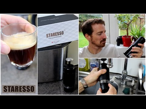 STARESSO - Portable Espresso / Cappuccino Maker, Review and Demo